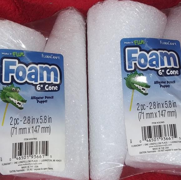 2 pkgs. Styrofoam cones.
